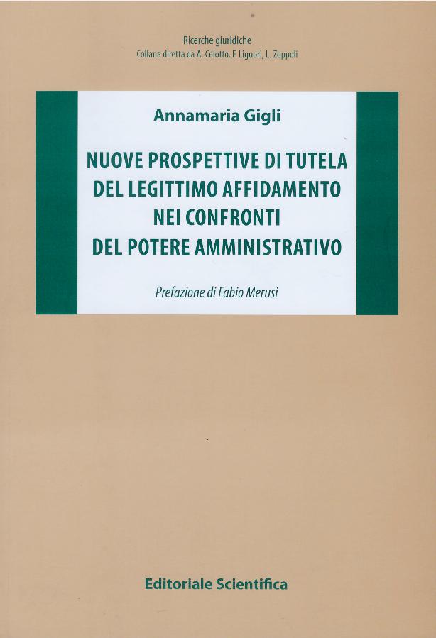 Nuove prospettive di tutela del legittimo affidamento nei confronti del potere amministrativo. Annamaria Gigli ; prefazione di Fabio Merusi