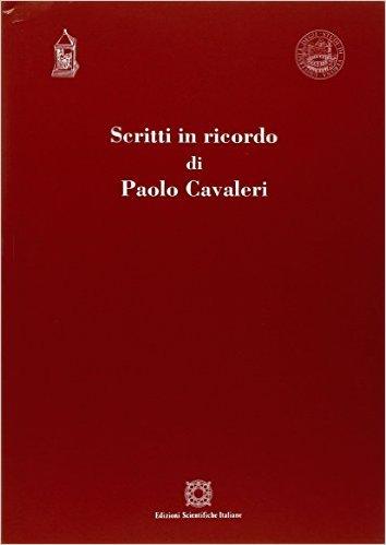 Scritti in ricordo di Paolo Cavaleri